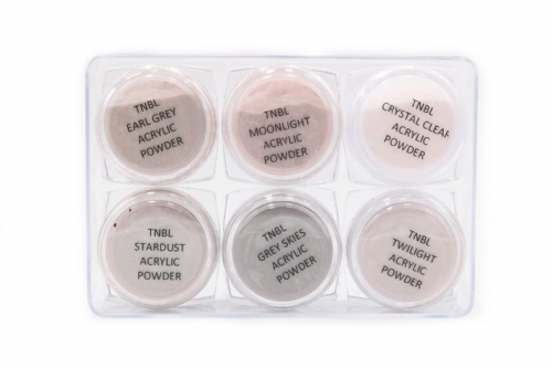 TNBL Acrylic Nail Powder - Grey Collection Trial Size Kit